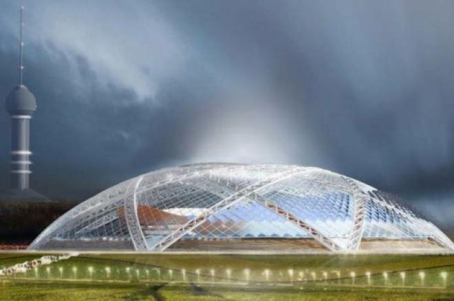 На стадионе «Самара Арена» начали монтаж футбольного поля
